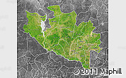 Satellite Map of Niger, desaturated