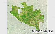 Satellite Map of Niger, lighten