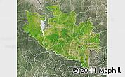 Satellite Map of Niger, semi-desaturated