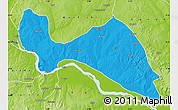 Political Map of Mokwa, physical outside