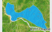 Political Map of Mokwa, satellite outside