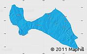 Political Map of Mokwa, single color outside