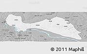 Gray Panoramic Map of Mokwa