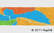 Political Panoramic Map of Mokwa
