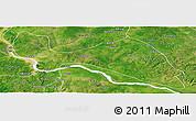 Satellite Panoramic Map of Mokwa