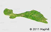 Satellite Panoramic Map of Mokwa, single color outside