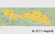 Savanna Style Panoramic Map of Mokwa
