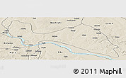 Shaded Relief Panoramic Map of Mokwa