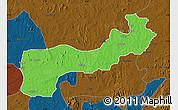 Political Map of Paikoro, darken