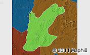 Political Map of Rafi, darken