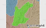 Political Map of Rafi, semi-desaturated