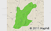 Political Map of Rafi, shaded relief outside