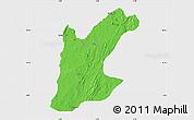 Political Map of Rafi, single color outside