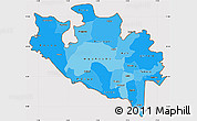 Political Shades Simple Map of Niger, cropped outside