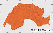 Political Map of Wushishi, cropped outside