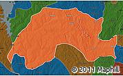 Political Map of Wushishi, darken