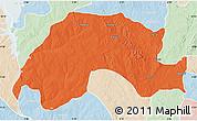 Political Map of Wushishi, lighten