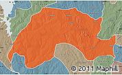 Political Map of Wushishi, semi-desaturated
