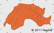 Political Map of Wushishi, single color outside