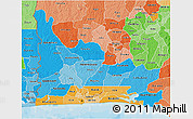 Political Shades 3D Map of Ogun