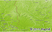 Physical Panoramic Map of EgbadoNorth