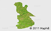 Satellite Panoramic Map of EgbadoNorth, single color outside