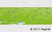 Physical Panoramic Map of IjebuEast