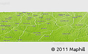 Physical Panoramic Map of IjebuNorth