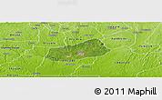 Satellite Panoramic Map of IjebuNorth, physical outside