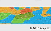 Satellite Panoramic Map of IjebuNorth, political outside