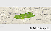 Satellite Panoramic Map of IjebuNorth, shaded relief outside