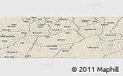 Shaded Relief Panoramic Map of IjebuNorth