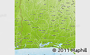 Physical Map of Ogun