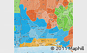 Political Shades Map of Ogun