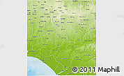 Physical 3D Map of Ondo