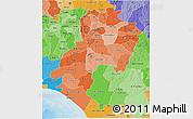 Political Shades 3D Map of Ondo