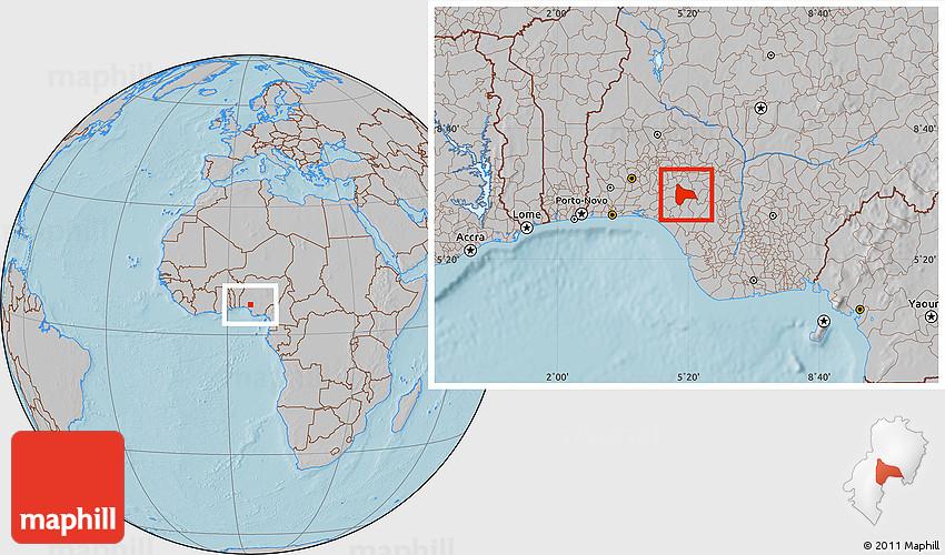 Gray location map of idanre hill shading sciox Choice Image