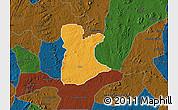 Political Map of Ikole, darken