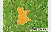 Political Map of Ikole, satellite outside