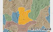 Political Map of Ikole, semi-desaturated