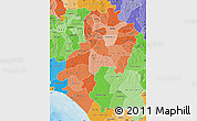 Political Shades Map of Ondo