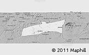 Gray Panoramic Map of Ondo