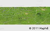 Satellite Panoramic Map of Ondo