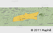 Savanna Style Panoramic Map of Ondo