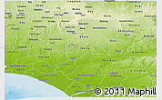 Physical Panoramic Map of Ondo