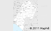 Silver Style Simple Map of Ondo
