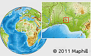 Physical Location Map of Atakumosa