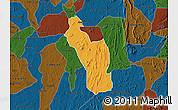 Political Map of Atakumosa, darken