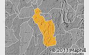 Political Map of Atakumosa, desaturated