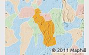 Political Map of Atakumosa, lighten